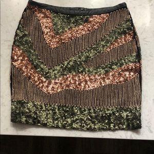 Sequin/beaded mini skirt